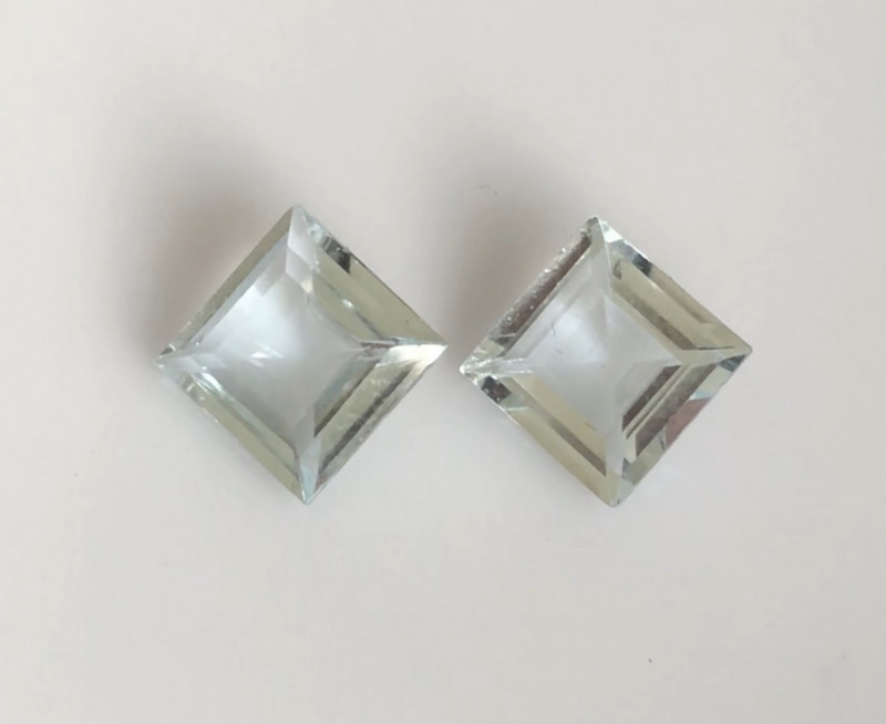 Glowing Silvery (Colorless) Aquamarine Pair