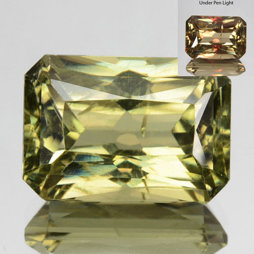 ~RAREST~ 4.48 Cts Natural Color Change Diaspore Octagon Cut Turkey Gem