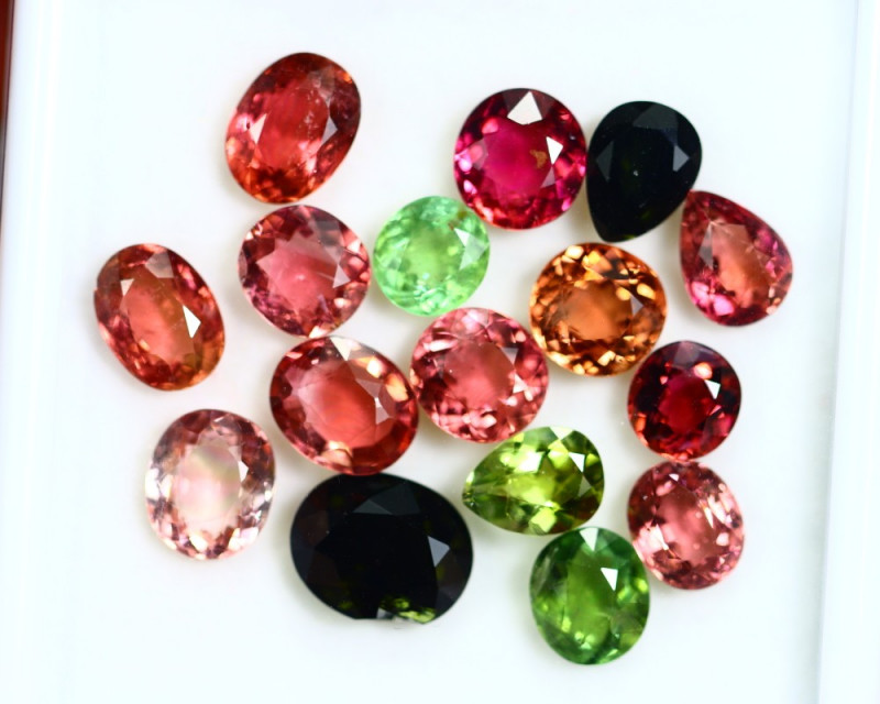 24.05cts Natural Vivid Colour Tourmaline Lots / RD95