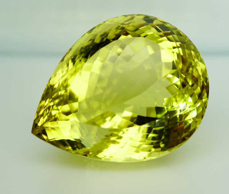Clean Fabulous! 110.95 ct. Natural Top Yellow Lemon Quartz Brazil– IGE Cert
