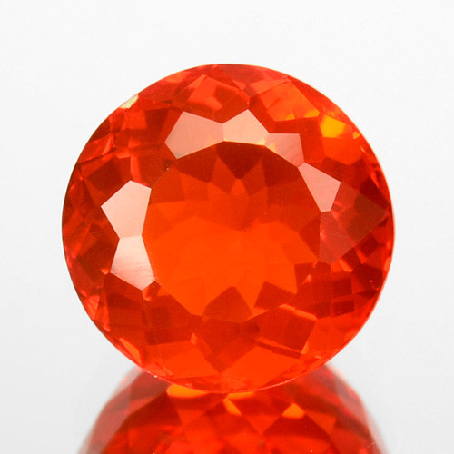 0.97 Cts Natural Top Orange Fire Opal Mexico Gem (Video Avl)