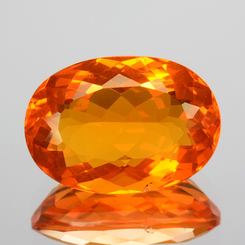 1.53 Cts Natural Top Orange Fire Opal Mexico Gem (Video Avl)