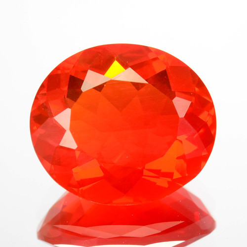 1.36 Cts Natural Top Red Fire Opal Mexico Gem (Video Avl)