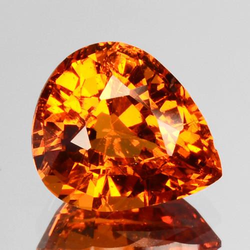 1.81 Cts Natural Fanta Orange Spessartite Garnet Pear Cut Namibia (Video Av