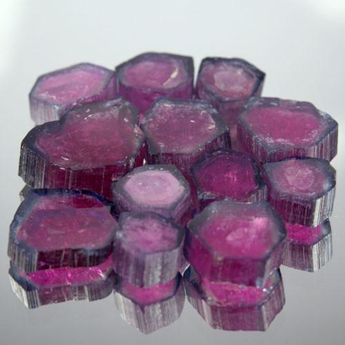 20.44 Cts Natural Green & Pink Slice Tourmaline Mozambique Gem