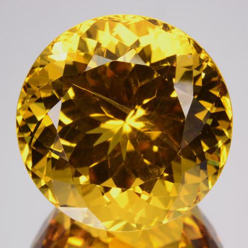 ~AMAZING~ 32.24 Cts Natural Golden Yellow Beryl Round Cut Brazil Gem