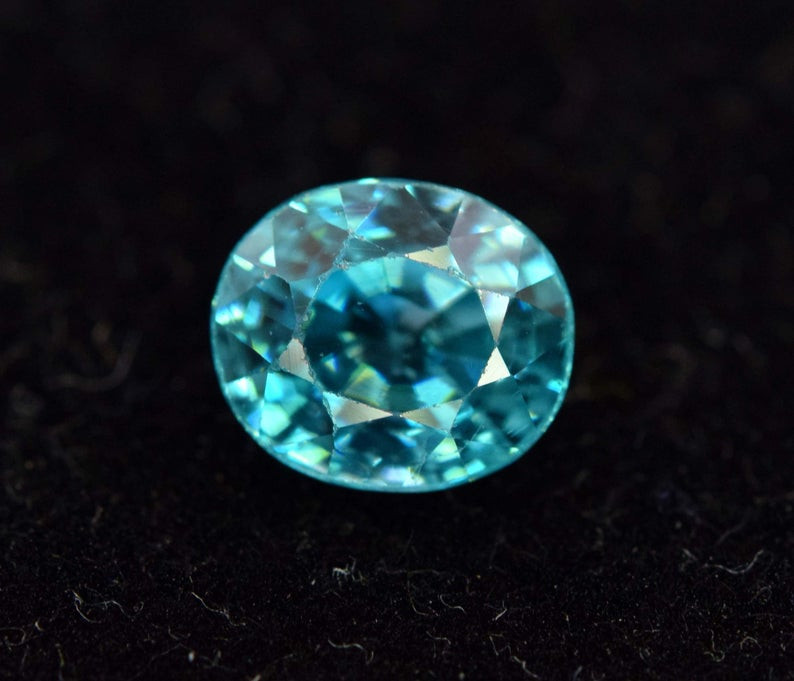 1.65 Carats AAA Grade Victoria Blue Color Super Top Quality Natural Zircon