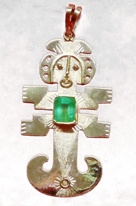 18k  Gold Pre Columbian Pendant
