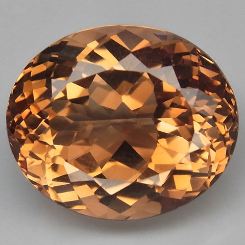 16.02 ct.    Top Quality  100% Natural Topaz Orangey Brown Brazil