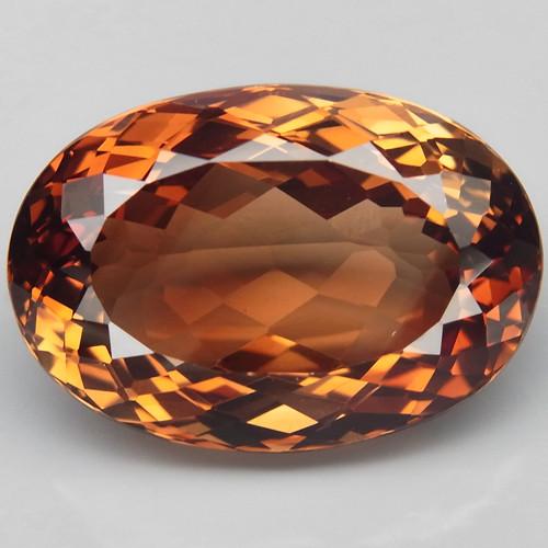 22.22 ct. Top Quality 100% Natural Topaz Orangey Brown Brazil