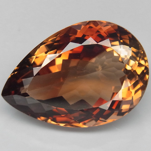 21.97 ct. Top Quality 100% Natural Topaz Orangey Brown Brazil