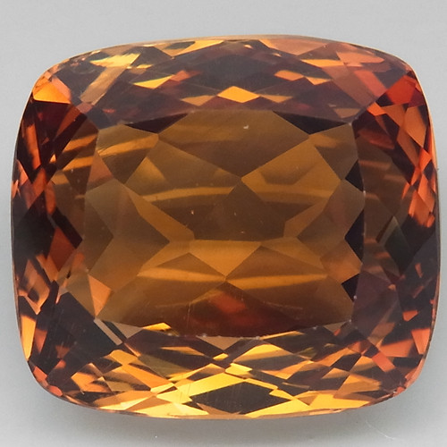 17.52  ct. Top Quality 100% Natural Topaz Orangey Brown Brazil