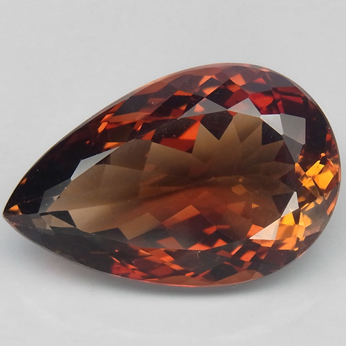 22.08 ct. Top Quality 100% Natural Topaz Orangey Brown Brazil