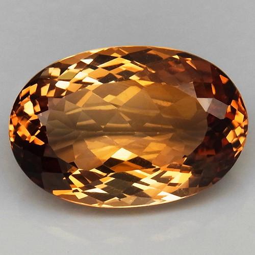 17.09 ct. Top Quality 100% Natural Topaz Orangey Brown Brazil