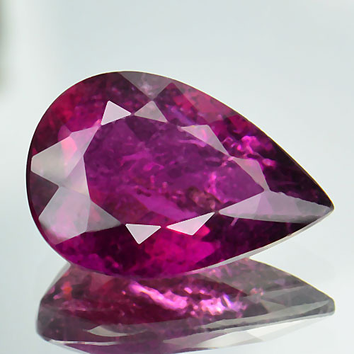 3.13 Cts Natural Raspberry Pink Rubelite Tourmaline Mozambique Gem