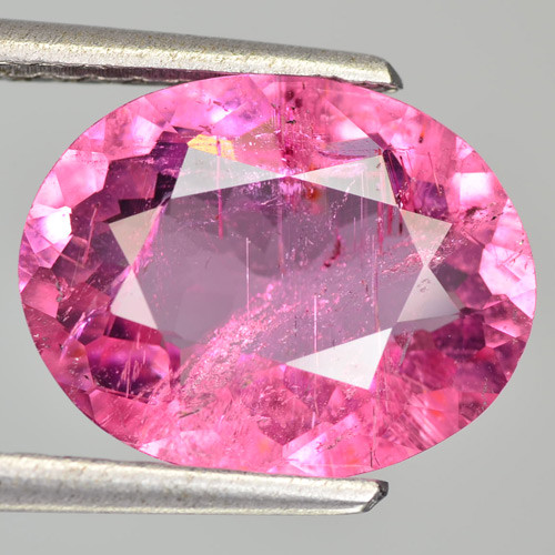 3.38 Cts Natural Pink Tourmaline Oval Mozambique