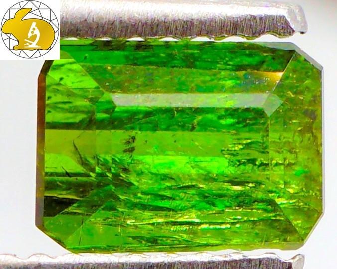 Cert. 1.35 CT Intense Green Tourmaline (Brazil) | FREE TRACKED SHIPPING!