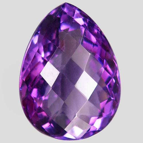 17.58Ct. Natural Rich Purple Amethyst Uruguay  Dazzling Unheated