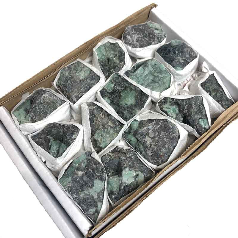Tray Natural Colombian Emerald Specimens