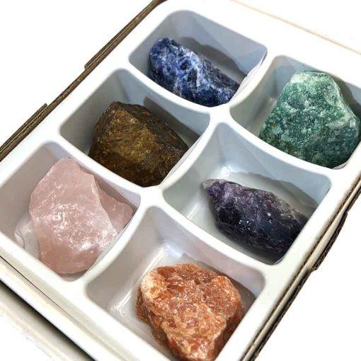 Tray Natural Brazilian Mixed Gemstone  Specimens