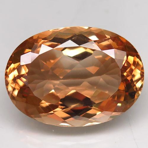 22.17 ct. Top Quality 100% Natural Topaz Orangey Brown Brazil