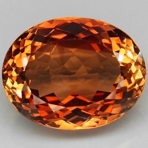 15.56 ct. Top Quality 100% Natural Topaz Orangey Brown Brazil
