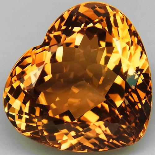 19.04 ct. Top Quality 100% Natural Topaz Orangey Brown Brazil