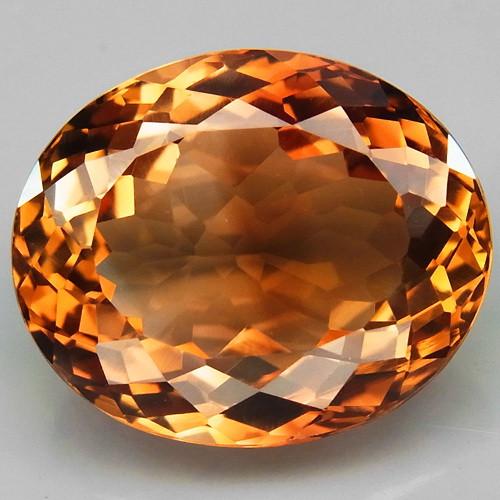 15.15 ct. Top Quality 100% Natural Topaz Orangey Brown Brazil