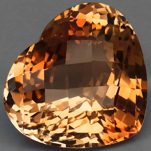 21.68 ct. Top Quality 100% Natural Topaz Orangey Brown Brazil