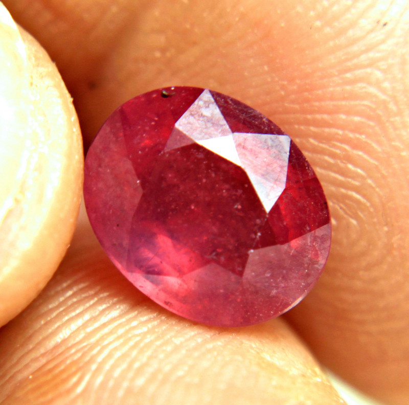 5.09 Carat Fiery Red Ruby - Gorgeous