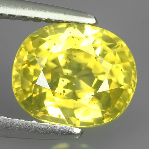 3.85 CTS~TOP LUSTROUS NATURAL CAMBODIA OVAL~YELLOW ZIRCON!!