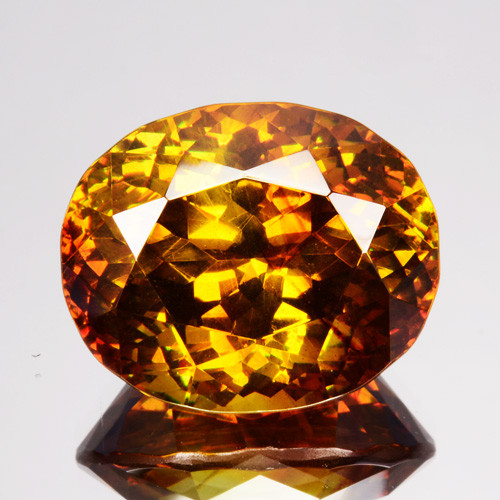 20.17 Cts Natural Fire Sunset Yellow Sphalerite Oval Cut Spain Gem