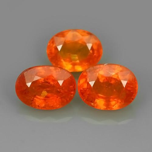 7.45 Cts Unheated Natural Orange Spessartite Garnet Namibia Gem
