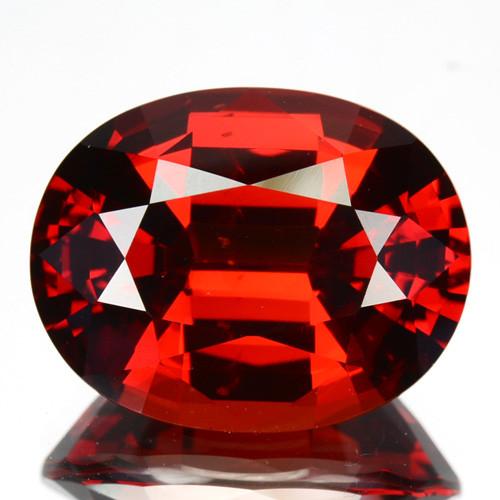 ~BEAUTIFUL~ 10.01 Cts Natural Mandarin Red Spessartite Garnet Oval Namibia