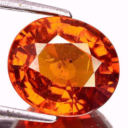 6.37 Cts Unheated Natural Mandarin Orange Spessartite Garnet OvalCut Namibi