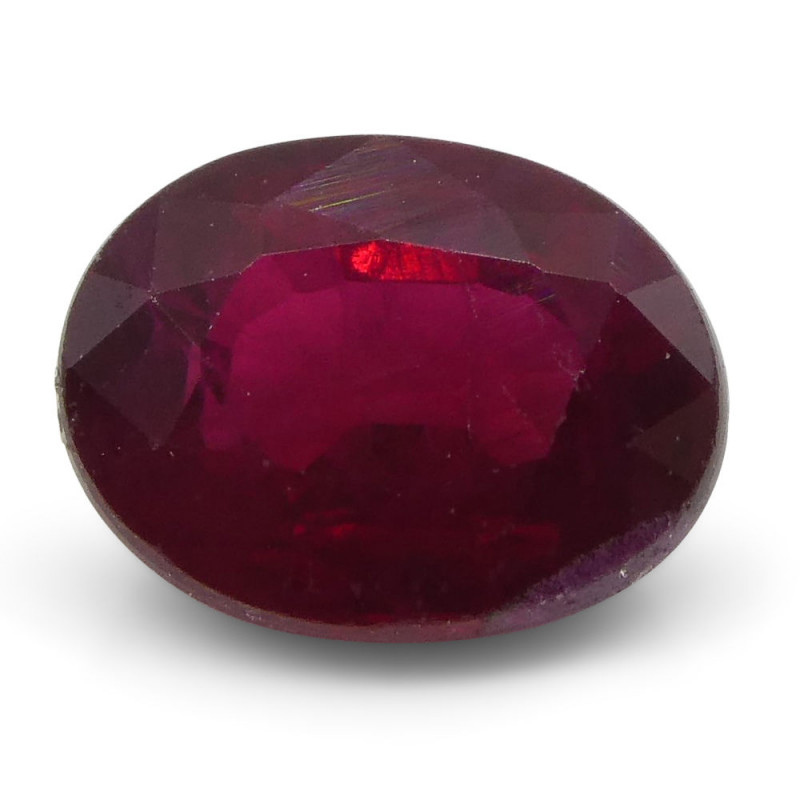 0.69 ct Oval Ruby Mozambique-$1 NR Auction, Free Ship