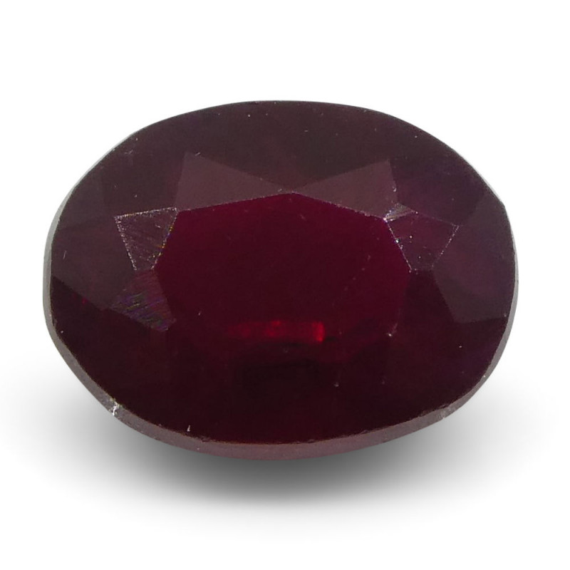 0.79 ct Oval Ruby Mozambique