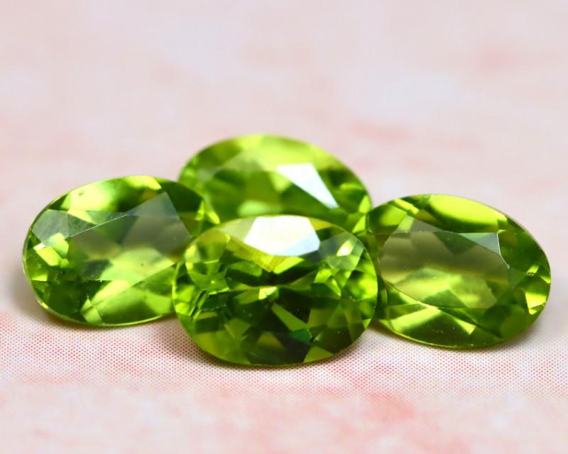 Peridot 3.44Ct 4Pcs Natural Pakistan Himalayan Green Peridot E1118