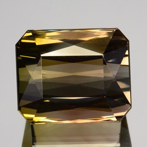 13.65 Cts Natural Bi-Color Tourmaline Octagon Cut Mozambique