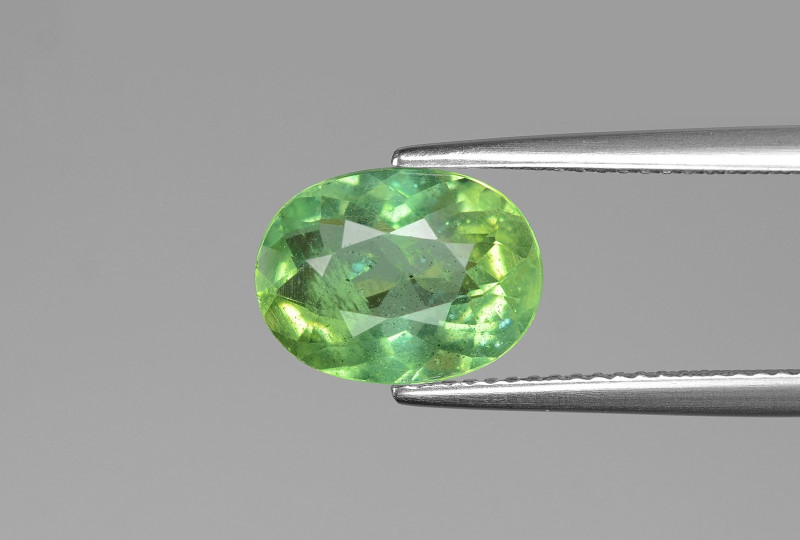 3.19 Cts Un Heated Green Color Natural Apatite Loose Gemstone