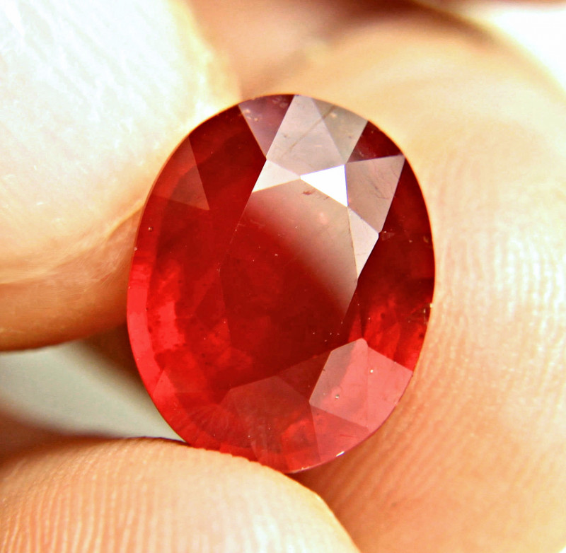 8.11 Carat Fiery Red Ruby - Superb