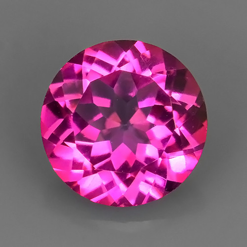 2.40 CTS SUPERIOR! TOP QUALITY ROUND CUT HOT PINK-TOPAZ GENUINE NR!!