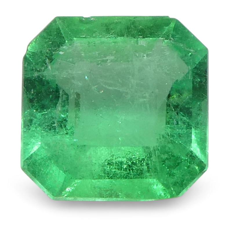 0.56 ct Emerald Cut Emerald Colombian