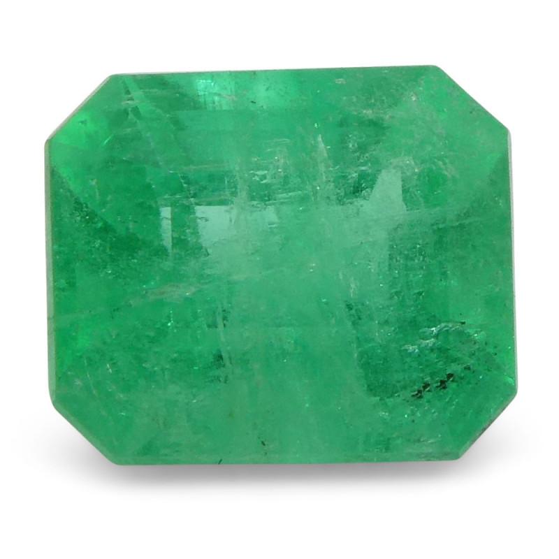 0.85 ct Emerald Cut Emerald Colombian