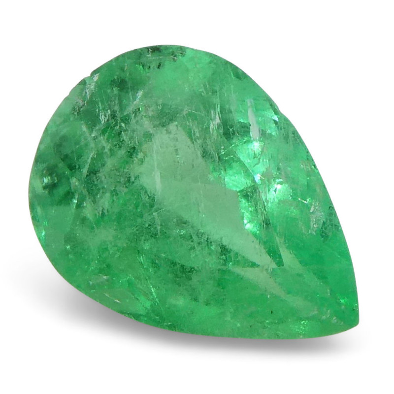0.79 ct Pear Emerald Colombian