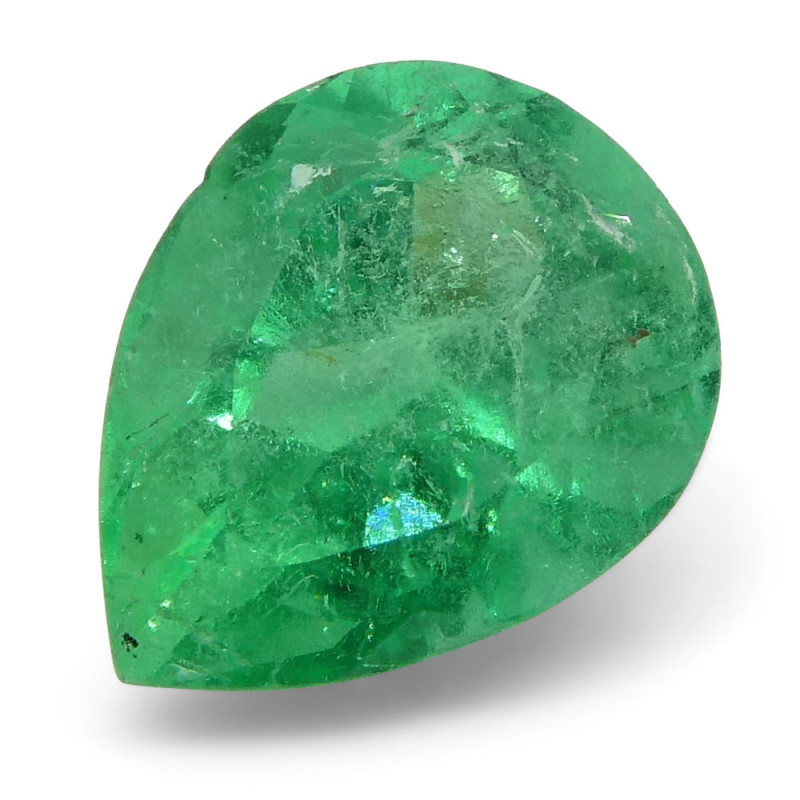 0.78 ct Pear Emerald Colombian