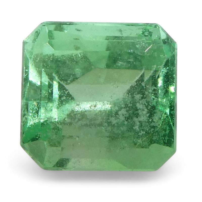 0.82 ct Emerald Cut Emerald Colombian
