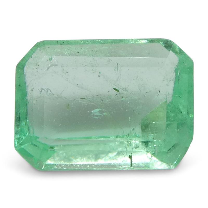 0.86 ct Emerald Cut Emerald Colombian