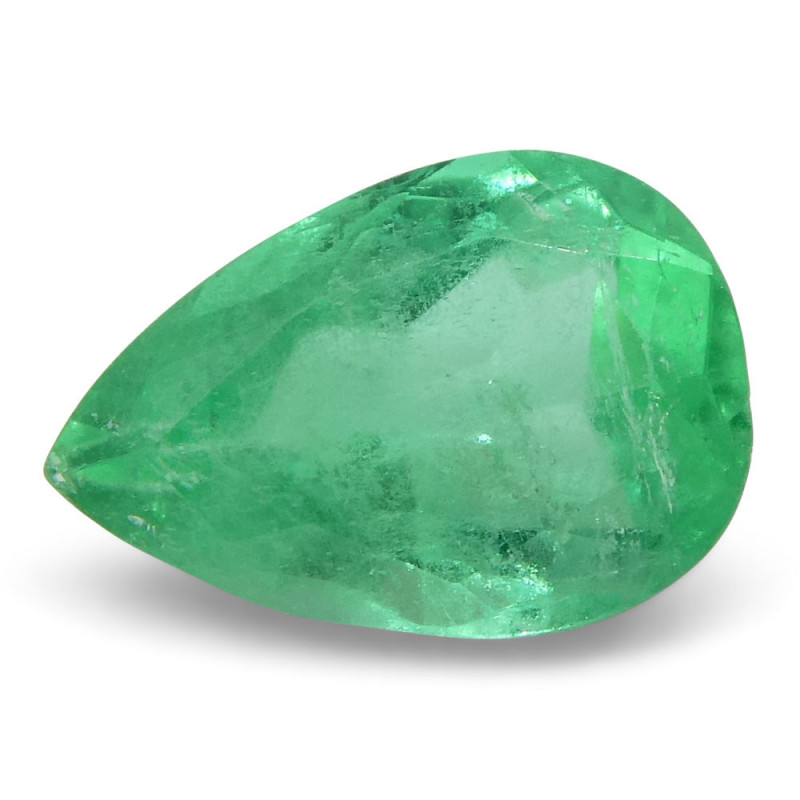 0.73 ct Pear Emerald Colombian