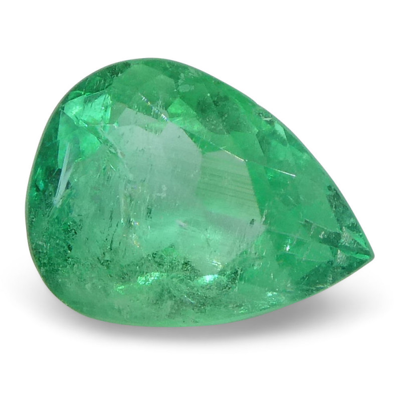 0.83 ct Pear Emerald Colombian